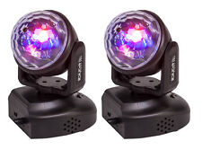 2 x Ibiza Light LMH Astro Moving Head Light RGB Disco DJ Party inc Remote (Pair)