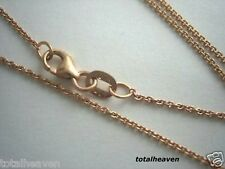"""16"""" Italian Solid 14K Pink Rose / Gold Chain 1.7g Tiff Cable Link"""