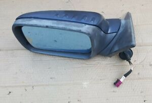 04-06 BMW E46 2-door coupe vert Left Driver Side Mirror 2-plug 330 325 ci BLUE
