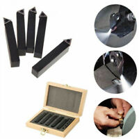 "HQ 5 pcs 1/4"" Indexable Carbide C6 Insert Tool Bit & Holder Mini Lathe Set"