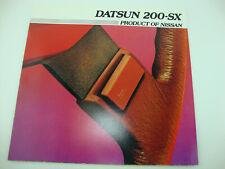 1982 Datsun Nissan 200-SX 200 SX Deluxe Original Sales Brochure Catalog