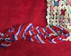 Red White & Blue Stripe Scarf Ladies Accessory Patriotic Colors Long