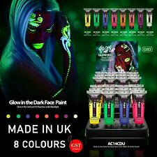 UP8 x Glow in the dark Face Body UV Paint 10ml light Fluoro Party Costume Makeup