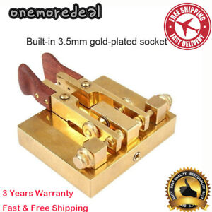 JCR-76 Automatic Morse Telegraph Key Two Paddle Copper For Shortwave CW Radio S