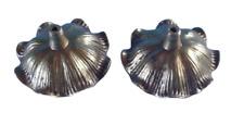 1 paire Ancien Ornement Architecture laiton Fleur Rosace diamètre 7,5 Vintage