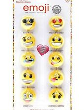 Emoji 10pks Round Fruity Flavors Lip Balm By Townley The Official Brand