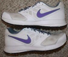 Nike Downshifter 6 Running Shoes 9.5 Nine 1 2 Womens White Gray   Purple  Women 9a2d8c3c9