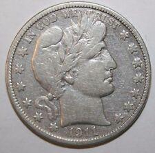 1911-S Barber Silver Half Dollar P24
