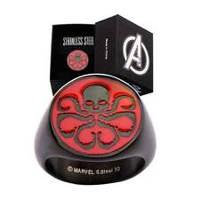 """AGENTS OF SHIELD """"HYDRA RING"""" Stainless steel black size 9 NEW in BOX"""