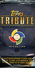 2013 TOPPS TRIBUTE WORLD BASEBALL CLASSIC ED HOBBY PACKFACTORY SEALED NEW