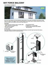 Juliet Balcony 1 to 3 Meters Opening Quick Easy Install 12 - 21.5mm Glass