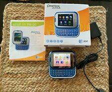 Pantech Pursuit, AT&T Cellular Phone Slider Keyboard Touchscreen Blue Pho