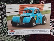 LEGENDS RACING EUROPE PHOTO INFO CARD