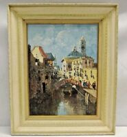 Original Vitali Bondarenko Signed Venice Italy Street View Framed Oil Painting