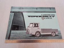 DEPLIANT BROCHURE ORIGINALE LANCIA SUPER JOLLY SUPERJOLLY 1963  PROSPEKT