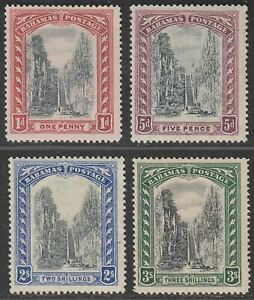 Bahamas 1921-29 KGV Queen's Staircase Set Mint SG111-114 cat £80 toned gum
