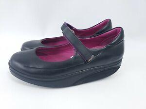 MBT Sirima Mary Jane Black Leather Women Shoes Size 8.5