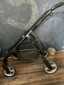 Silver Cross Wayfarer Chassis Frame With Wheels Basket Special Edition Black