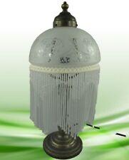 Lampe Tischleuchter Lampe Messing brün. Schirm 293.034C20 Geschenk in Vintage
