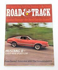 Road & Track Mag. September 1973 Audi Fox, Leyland, Enzo Ferrari, Mustang II