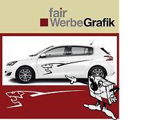 Aufkleber /  Sticker / Seitenbeschriftung / Dekor / Peugeot 308/ #039