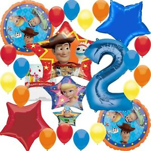 Disney Toy Story 4 Party Supplies 2nd Birthday Balloon Decoration Bundle