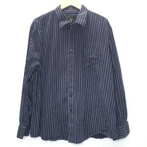Dockers Blue Stripe Button Down Dress Shirt Long Sleeve Men XXL 18/18 1/2