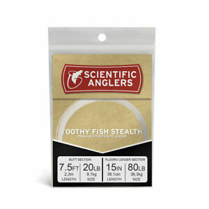 Scientific Anglers Toothy Fish Stealth  Leader 80 LB Pike Musky Leader