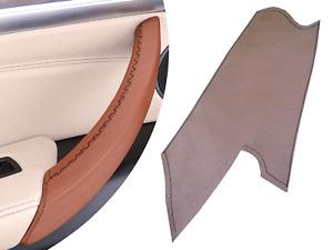 BMW X5 E70 / X6 E71 Brown Inner Door Handle Cover Leather Replacement Left Door