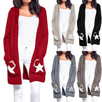 Women's Winter Baggy Cardigan Chunky Knitted Sweater Jumper Coat Tops Oversized