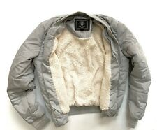 Ladies/Girls LIPSY Grey Winter Bomber Padded Jacket/Coat Size 6  Great cond