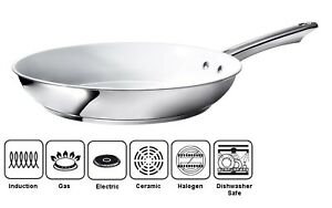 """24cm Non Stick Frying Pan Ceramic Coated Omelette Induction Gas Hob 10"""" QUALITY"""