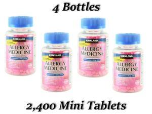 Kirkland Allergy Relief Sneezing Hay Fever Antihistamine Comp Benadryl 1 - 8pack