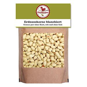Erdnusskerne / Erdnüsse blanchiert von Eichkater, roh und ungesalzen 1000g