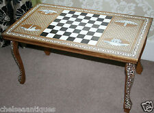 1970 s True Vintage Liberty London coffee table/Chess Table Mother of Pearl Inlay