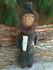 New! Primitive Country Handmade Folk Art Patriotic Americana Abe Lincoln Doll