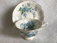 Royal Albert Forget Me Not Teacup and Saucer Set Made in England