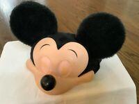 Disney Mickey Mouse Snapback Hat Cap adjustable 3D Face plush Ears Vintage USA