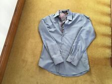 """STYLISH GREY SHIRT 14.5"""" COLLAR WITH CONTRASTING INNER COLLAR AND CUFFS"""