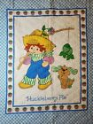 Vintage New Huckleberry Pie & Pupcake  Quilted Fabric Panel - Ready to Finish
