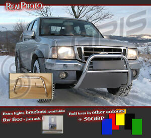 FORD RANGER 1998-2006 LOW BULL BAR NUDGE BAR  A BAR  !!!  STAINLESS STEEL