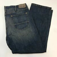 Nautica Denim Jeans Mens 40X30 Blue Straight Leg 100% Cotton Washed Zip Closure