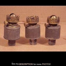 3 Antique Tin Kerosene / Oil Peg Lamp Fonts Parade Lantern Barn Lantern