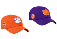Clemson Tigers Adjustable Cap Unstructured Slouch Style Hat Choose Team Color