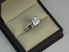 2.00 Ct VVS1 Cushion Cut Bridal Diamond Wedding Ring 18K Solid White Gold Rings