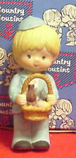 Enesco Country Cousins Scooter in Sunday Clothes with Easter Basket with Bunny