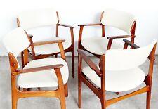 Modell 50 Armlehnstühle  von Erik Buch für Odense, 1960er, 4er Set