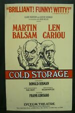 "Gold Storage Theater Broadway Window Card Poster 14"" x 22"""