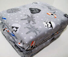 Star Wars Heavyweight Helmet Head Trooper Darth Vader Flannel Full Sheet Set New