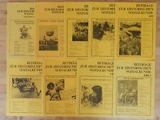 9 x Beiträge zur historischen Sozialkunde VGS Zeitschriften Hefte